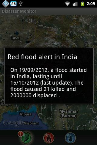 Natural Disaster Monitor - screenshot