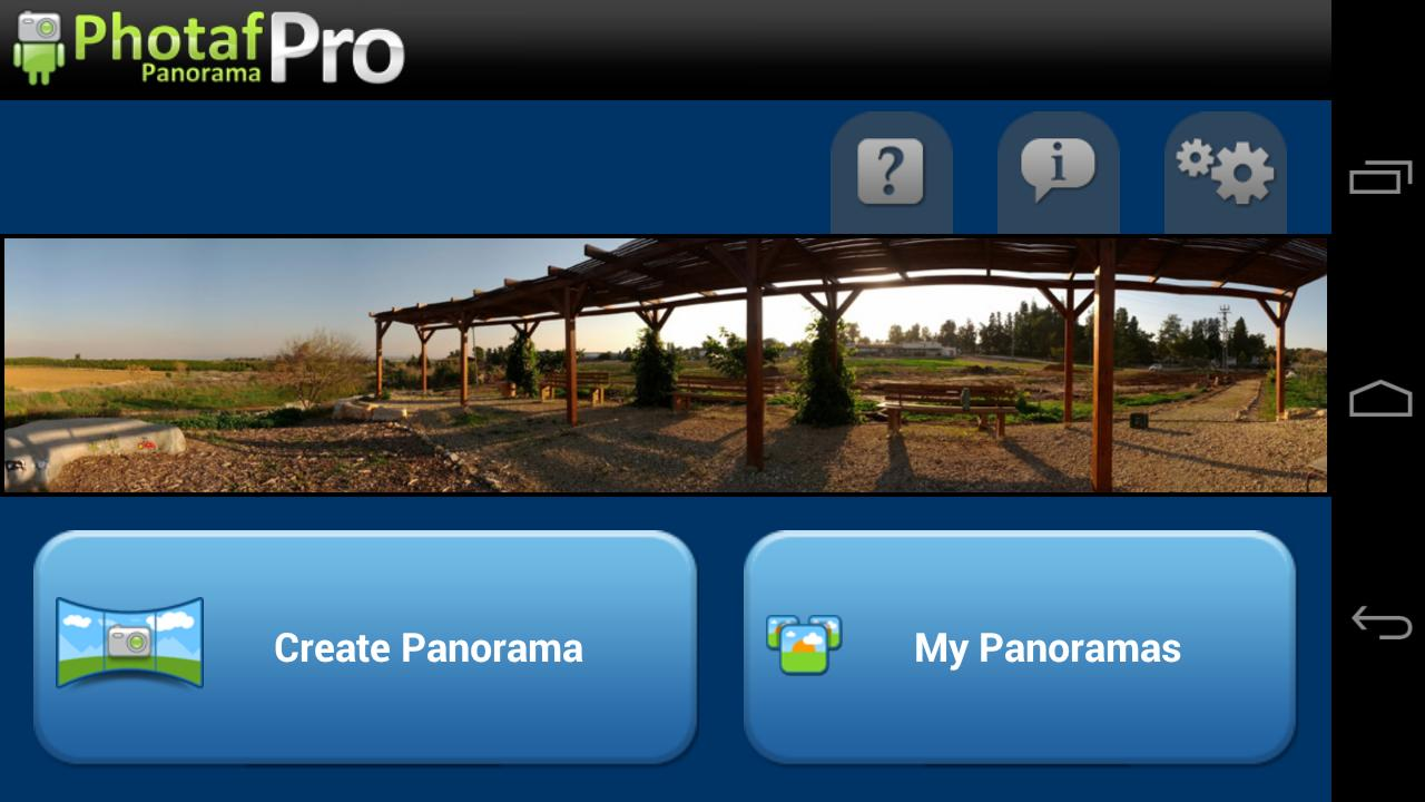 Photaf Panorama Pro Screenshot 0