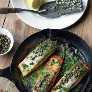 Salmon with Capers and Dill.