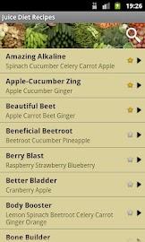 Juice Diet Recipes Screenshot 1