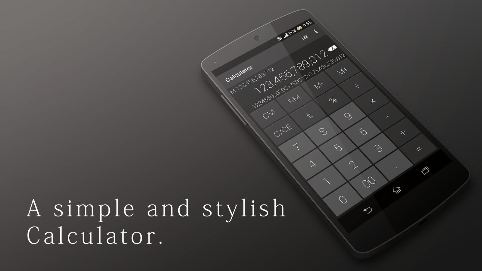 Calcolatrice elegante e sobria - screenshot
