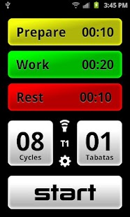 Tabata Pro - Tabata Timer Fitness app screenshot for Android