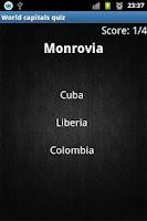 Screenshot of World capitals logo quiz