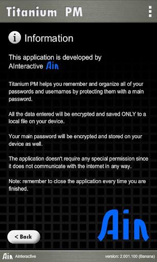 Titanium Password Manager Banana screenshots 3