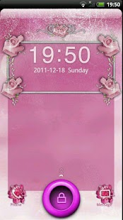 GO Locker Pink Roses Theme - screenshot thumbnail