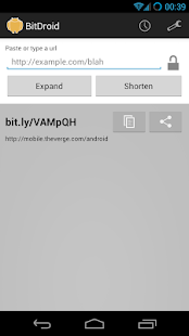 BitDroid for Bit.ly - screenshot thumbnail