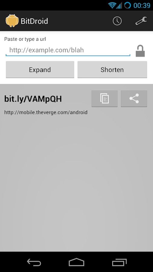 BitDroid for Bit.ly - screenshot