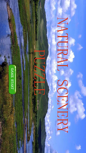 Natural scenery puzzle game