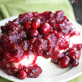 Chipotle Cranberry Cream Cheese Dip.