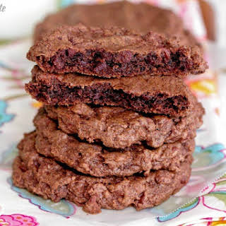 Thin Mint Double Chocolate Chip Cookies.
