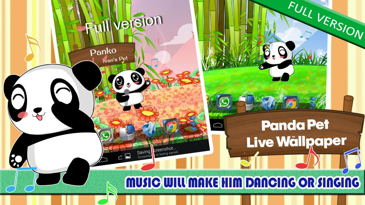 Panda Pet Live Wallpaper Free - screenshot