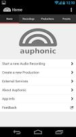 Screenshot of Auphonic Audio Recorder
