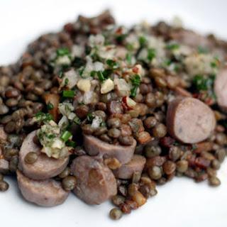 Warm Sausage and Lentil Salad