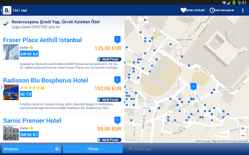 Booking.com Otel Rezervasyonu Screenshot