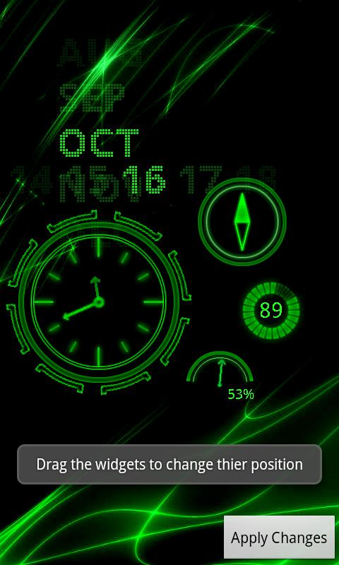 Neon Clock Live wallpaper - screenshot