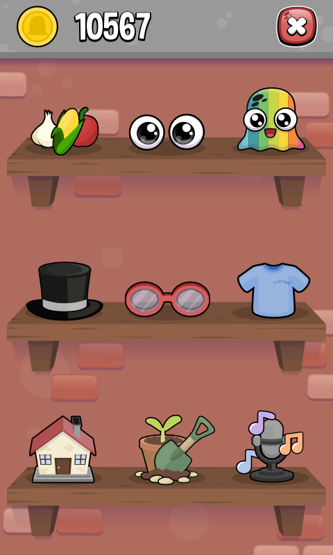 Screenshots of Moy 2 🐙 Virtual Pet Game for iPhone
