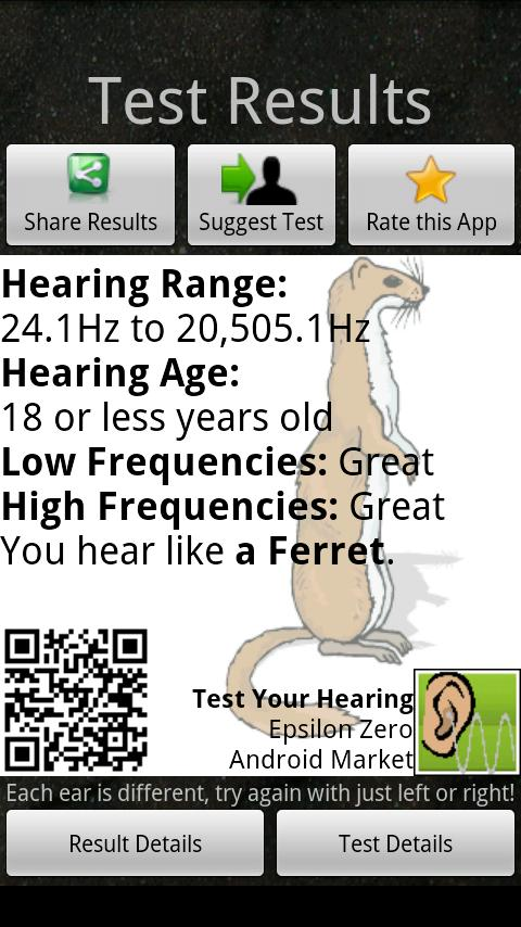Test Your Hearing - screenshot