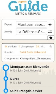 Paris metro subway guide- screenshot thumbnail