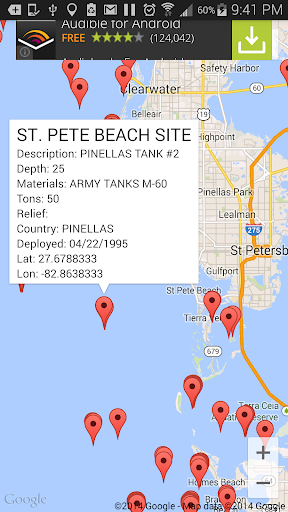 Florida Reef Fishing Scuba Map  screenshots 1