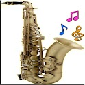Saxofone real icon