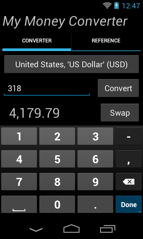 My Money Converter- screenshot