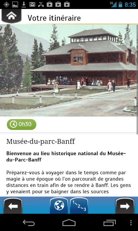 Explora Musée du Parc Banff- screenshot