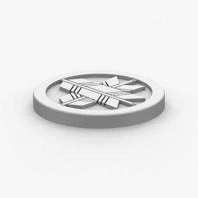 家紋コースター(丸に違い矢)
