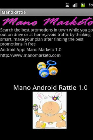 Mano Baby Android Rattle