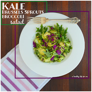 Kale Brussels Sprout Broccoli Salad.