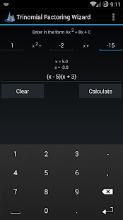 Trinomial Factoring Wizard- screenshot thumbnail