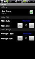 Screenshot of SmsPopup