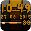Digi Clock Black Orange widget icon