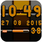 Digi 时钟黑橙构件 icon