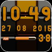Digi Clock Black Orange widget
