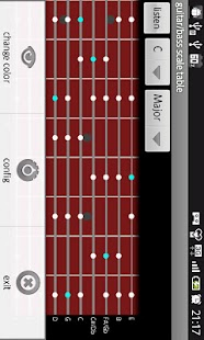 guitar/bass scale table- screenshot thumbnail