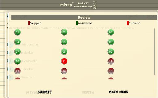 【免費教育App】mPrep Bank CET GK (Silver)-APP點子