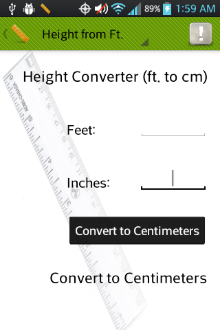 Height and Weight Converter