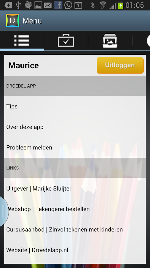 Droedel App- screenshot