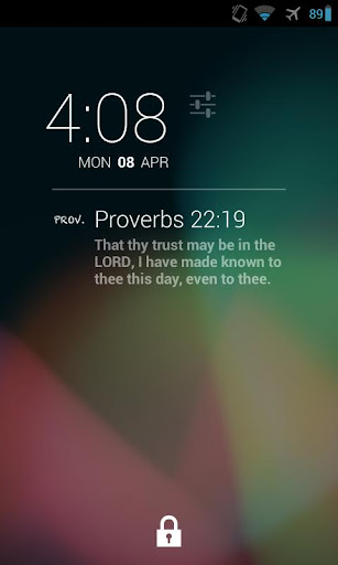 DashClock Bible Proverbs