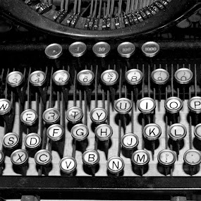 by Alexandra Tsalikis - Artistic Objects Technology Objects ( black and white, typewriter, antique,  )