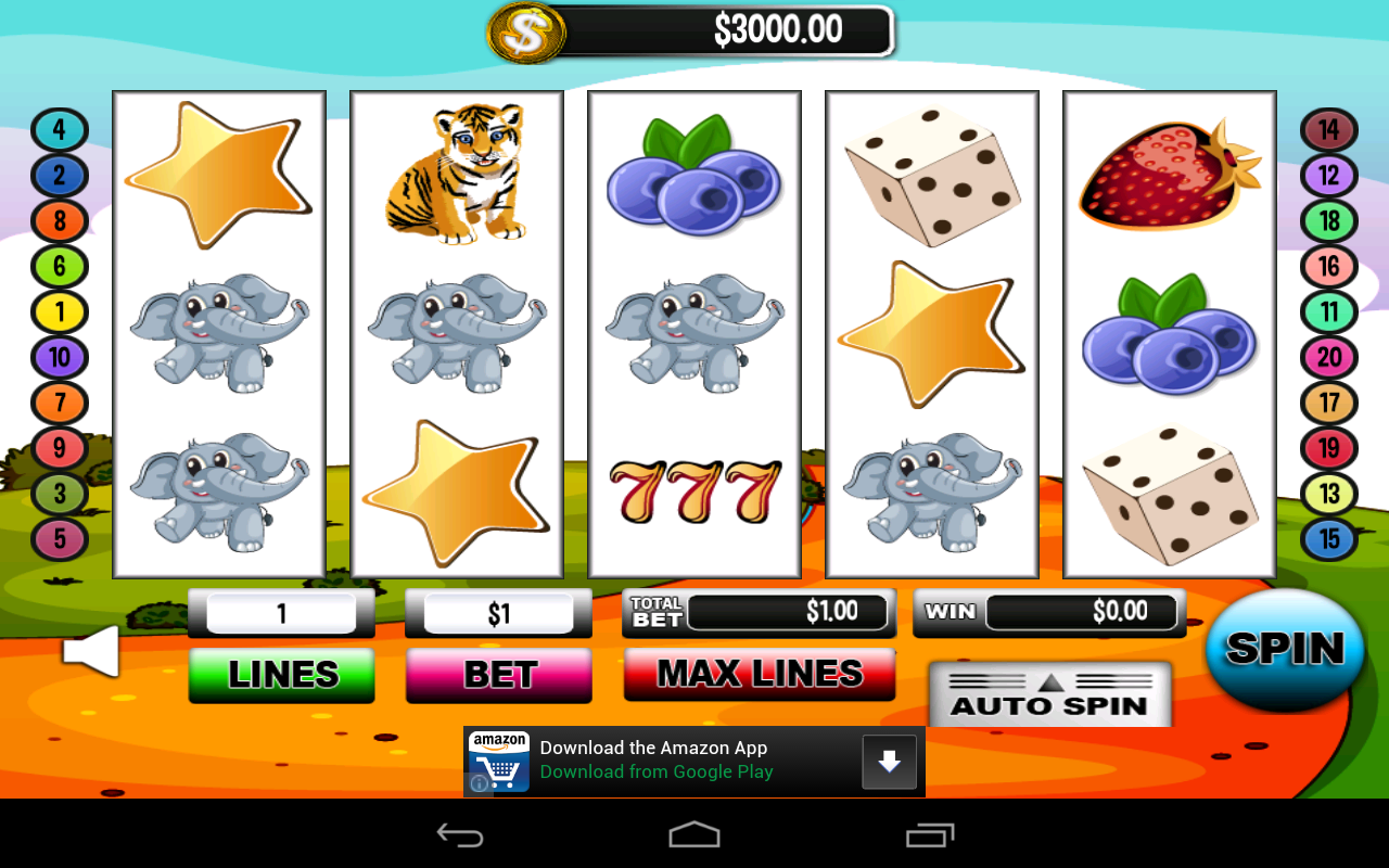 Cute Elephant Slots Line 20 - screenshot