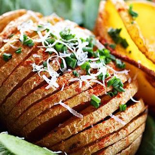 Parmesan Hasselback Baked Potatoes