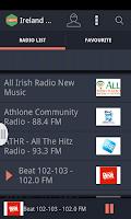 Screenshot of Ireland Radio