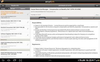 Screenshot of SmartJob HD