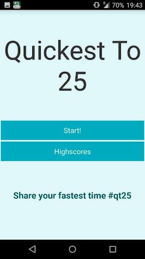Quickest To 25 Ad Free