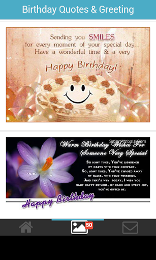 Birthday quotes card greeting