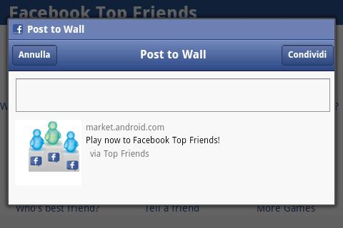 Top Friends for Facebook- screenshot