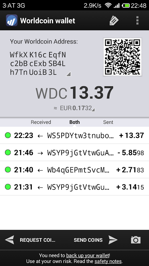 Worldcoin Wallet- screenshot