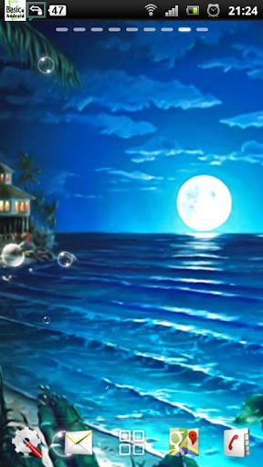 ビーチ夜のライブ壁紙