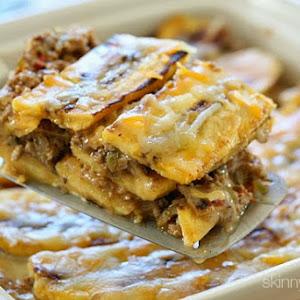Turkey Pastelón (Sweet Plantain Lasagna)